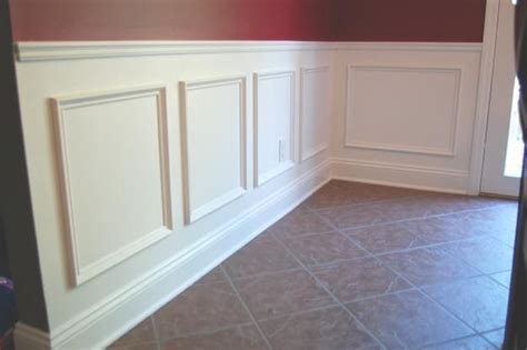 Frame And Panel Wainscoting by Use Simple Trim To Create A Wainscot By Adding A Chair