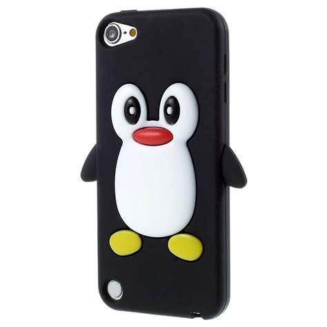 ipod touch 5g 3d penguin silikon skal svart