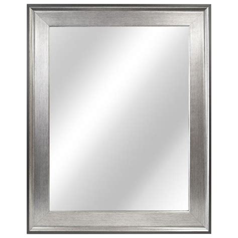 home decorators mirror home decorators collection 23 35 in w x 29 35 in l framed fog free wall mirror in two tone
