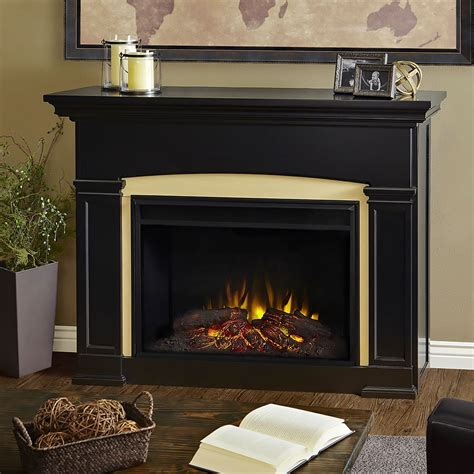 Black Fireplace Mantel by Holbrook Grand Infrared Electric Fireplace Mantel Package