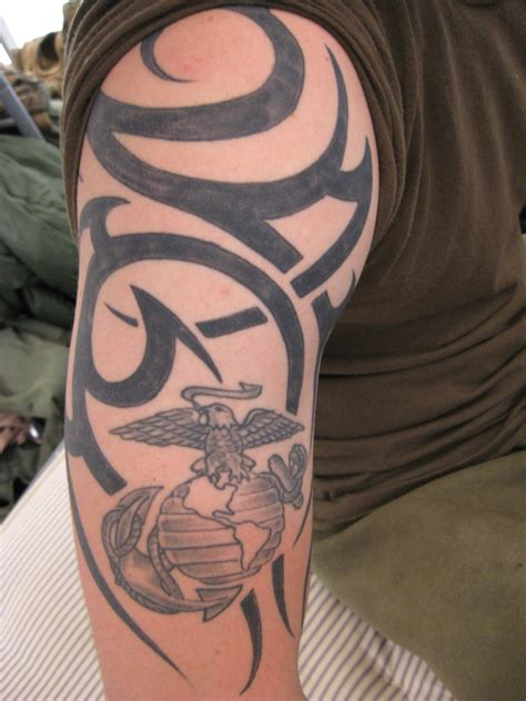marine tribal tattoos raining usmc designs