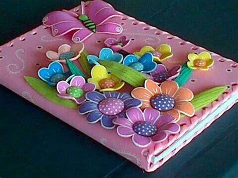 canastas para dulces foami libreta forrada con flores goma eva pinterest