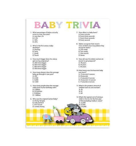 Baby Shower Trivia by Best 20 Baby Trivia Ideas On