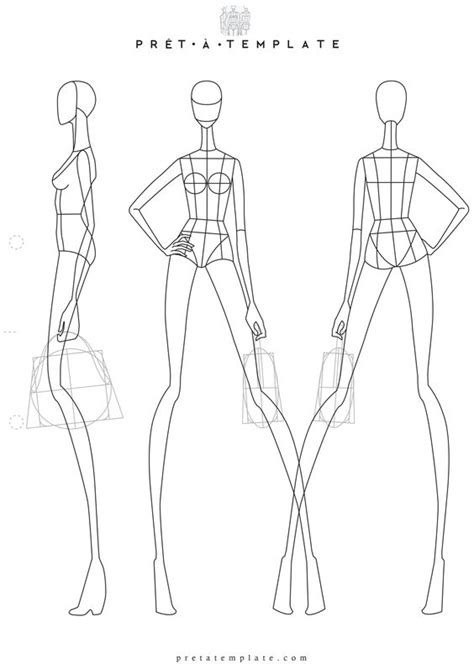 fashion design sketch model template black models picture
