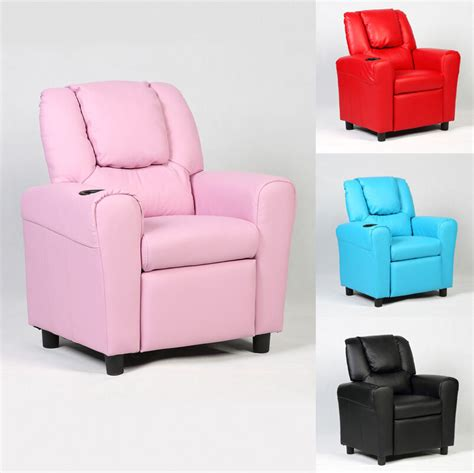 kid lounge chairs recliner sofa armchair seat chair w cup holder