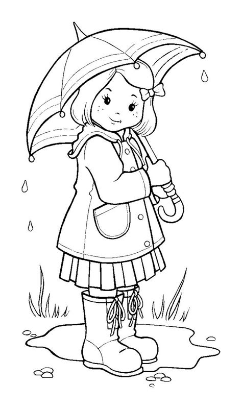 weather bear coloring pages rainy day cartoon pictures gallery black and white