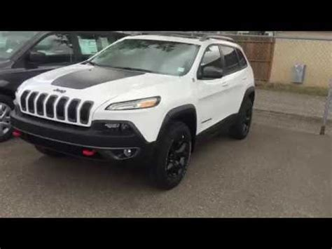 2017 White Jeep Cherokee Trailhawk Youtube