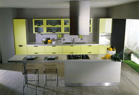 Yellow And Grey Kitchen by Yellow Kitchens