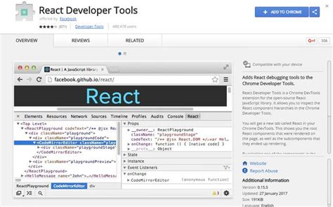 Chrome React Devtools | react js 14 tools resources for web developers hongkiat