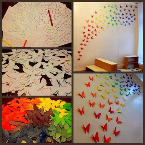 Paper Butterfly Craft Ideas - paper butterflies wall diy craft projects