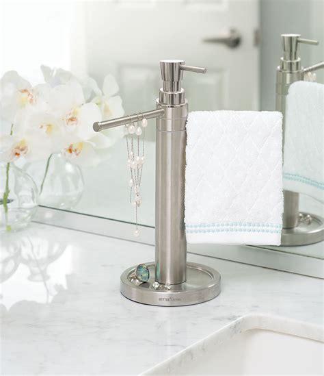Countertop towel valet soap dispenser combo