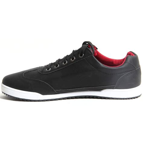 tennis shoes for flat mens lace up faux leather casual trainers flat sole