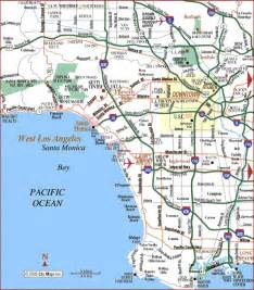 image gallery los angeles california map
