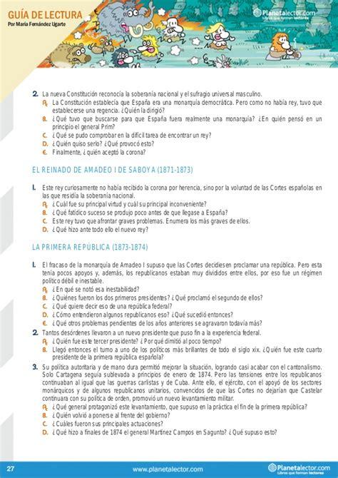 layout planning español gu 237 a de lectura peque 241 a historia de espa 241 a planetalector com