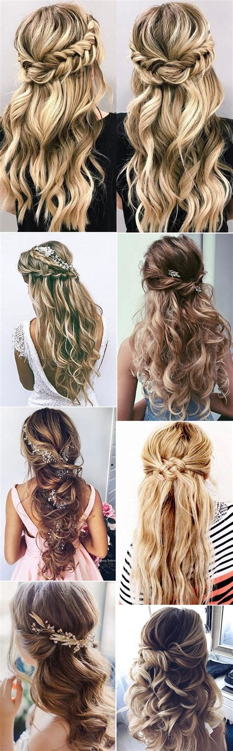 Half Up Hairstyles For Hair by 15 Chic Half Up Half Wedding Hairstyles For Hair