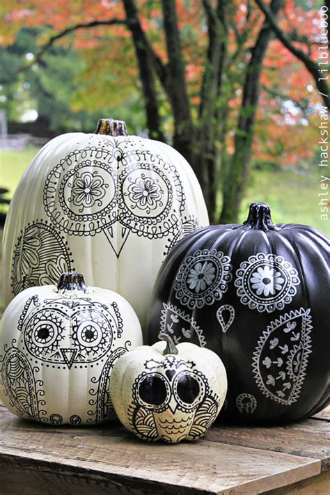 owl pumkin 60 pumpkin decorating ideas and designs for