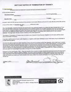 60 Day Notice Sle by 60 Day Notice Of Termination Of Tenancy Courtesy Of Your Friends At Sylvan Square Yelp