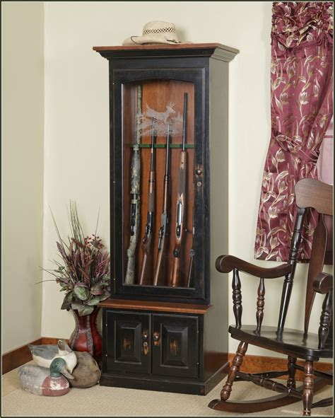 wood gun cabinet with etched glass wood gun cabinet burnt american wooden flag hidden gun