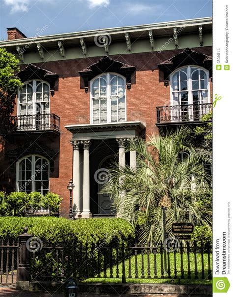 Historic Southern House Plans by Historic Savannah Georgia Red Brick House Stock Images