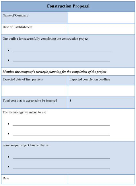 construction bid template template for construction template of