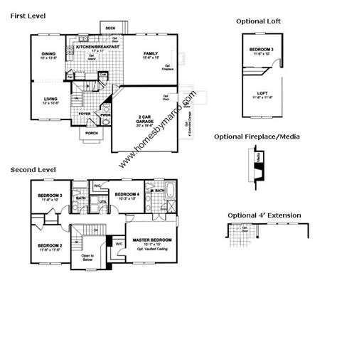 homes by marco floor plans stanford model in the lancaster falls subdivision in volo