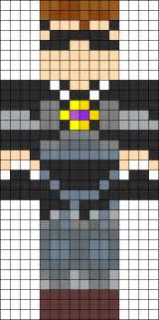 Minecraft Skin Template Grid by Skydoesminecraft Perler Bead Pattern Bead Sprites