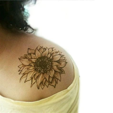 sunflower tattoo on shoulder sunflower images designs