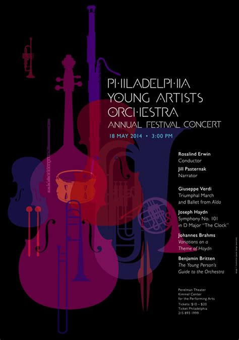 orchestra layout poster 2014 may philadelphia young artists orchestra annual