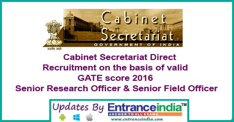 Cabinet Secretariat Govt Of India by Cabinet Secretariat Direct Recruitment Entranceindia