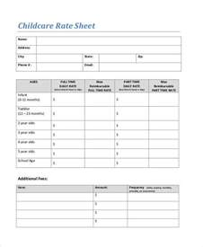 rate sheet template 20 rate sheet templates free sle exle format