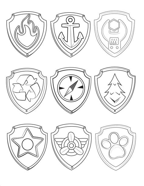 paw patrol shield coloring pages 21 awesome paw patrol birthday party ideas paw patrol