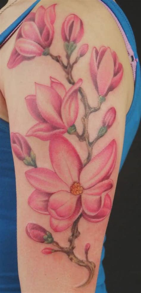 pink flower tattoo designs 60 awesome magnolia flower made golfian