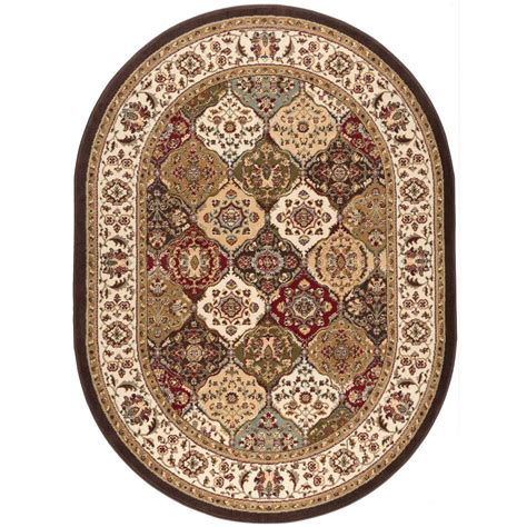 Tayse Rugs Laguna Multi 5 Ft 3 In X 7 Ft 3 In Oval Area Rugs 3 X 5