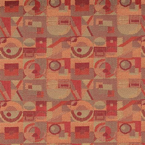most durable upholstery fabric red persimmon green abstract geometric durable upholstery