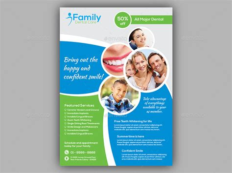 template flyer envato dentist flyer template by dindiagrafix graphicriver