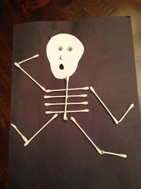 q tip skeleton craft template skeleton q tip craft for