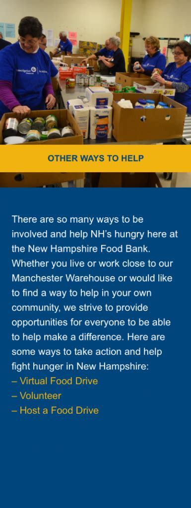 Food Pantry Manchester Nh by Donate The New Hshire Food Bank