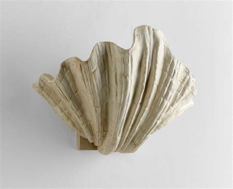 Shell Wall Sconce Shelly Plaster Shell Wall Sconce By Cyan Design