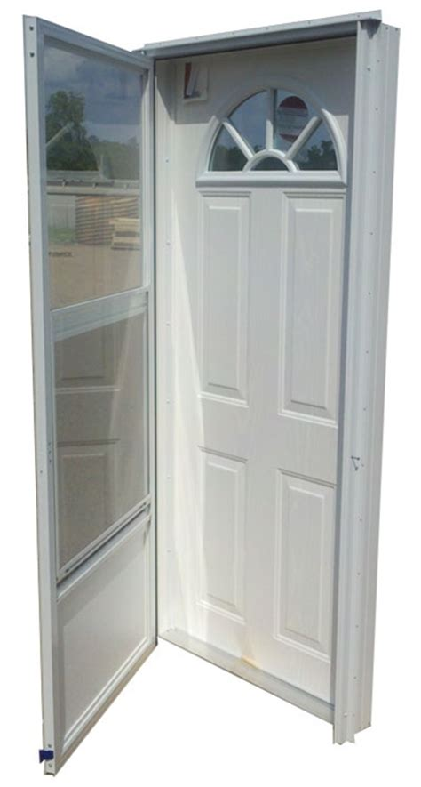Mobile Home Exterior Door 32x76 Steel Door Fan Window Lh For Mobile Home Manufactured Housing