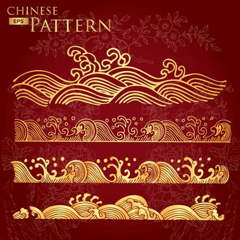 oriental pattern vector free download chinese floral pattern images