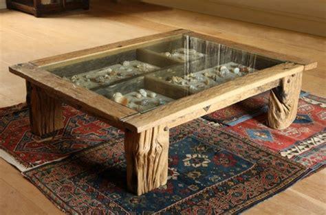 glastisch mit schublade dekorieren 60 treibholz tisch modelle und hinrei 223 ende objekte aus der