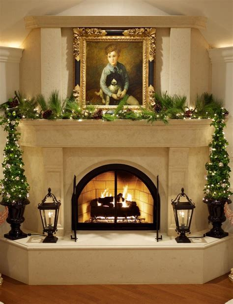 fireplace decor outdoor fireplace patio designs christmas decorating