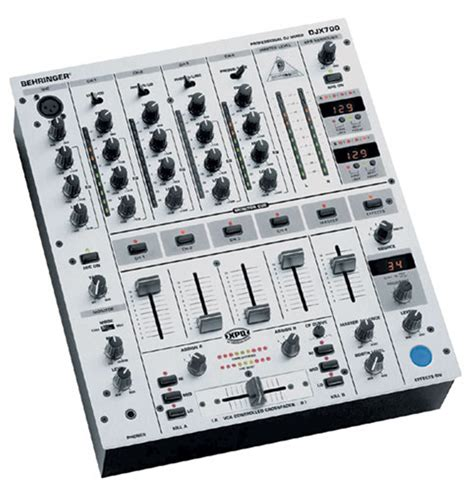 behringer djx 700 5 channel dj mixer with effects pssl