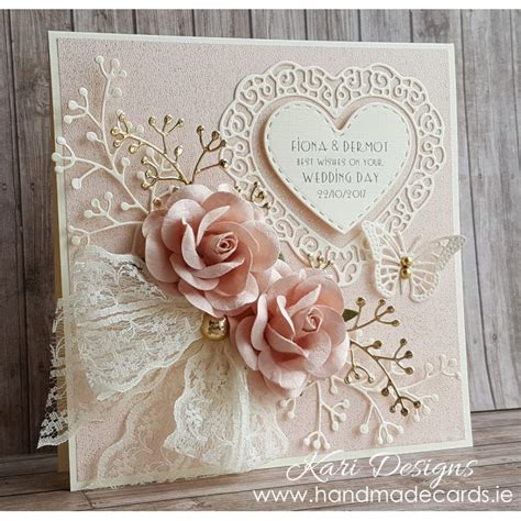 Handcrafted Wedding - beautiful handmade wedding card