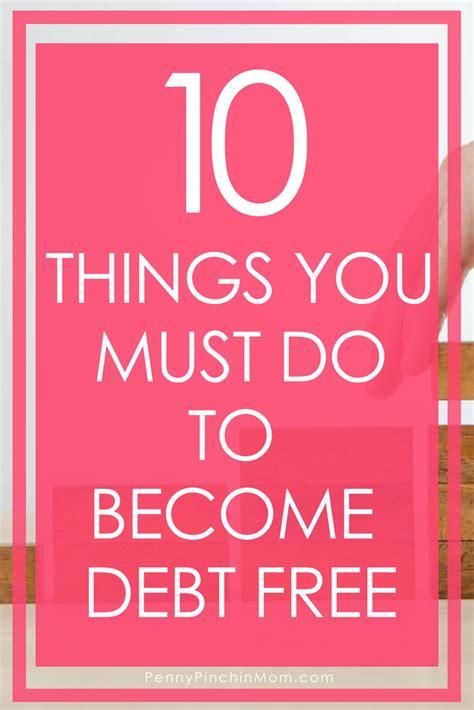crucial steps   debt  living