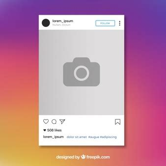 Instagram Vectors Photos And Psd Files Free Download Free Instagram Template