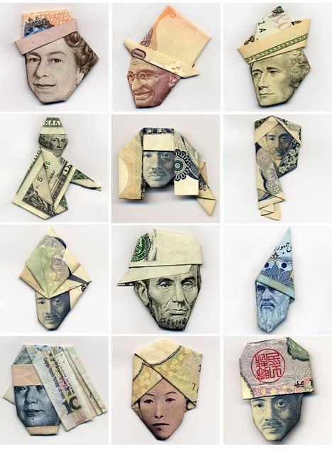 Paper Money Folding - if other professions were paid like artists gwarlingo