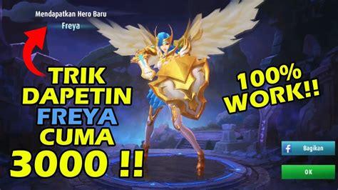 codashop my trik mendapatkan freya dengan 3000 aja mobile legend