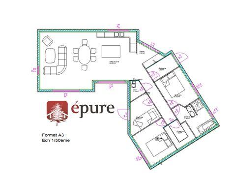 amenagement interieur plan plan am 233 nagement int 233 rieur maison ossature bois cransac