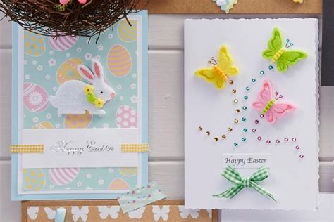 easy easter cards templates 4 easy easter cards to make hobbycraft